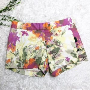 J. Crew Shorts - J.Crew- Yellow Floral Chino Shorts - Size 0